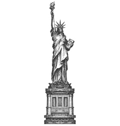 statue liberty logo design template america or vector image