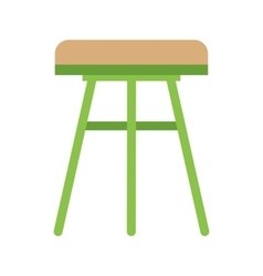 Stool Wooden vector