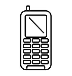 Survival phone icon outline style vector