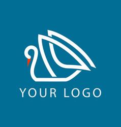 Swan logo sign emblem-02 vector