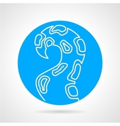 Tentacle blue round icon vector