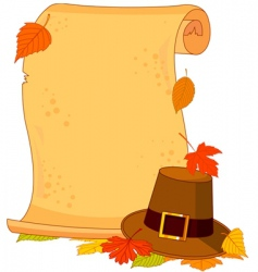 Thanksgiving scroll vector