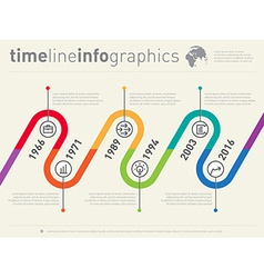 Timeline Infographic Business design template vector image