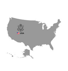 Usa map with coat arms vector