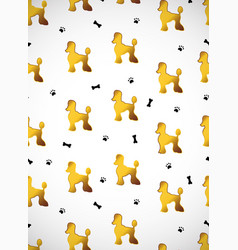 Vertical card seamless pattern with cute cartoon vector