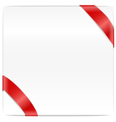 Blank page with red ribbon vector image vector image