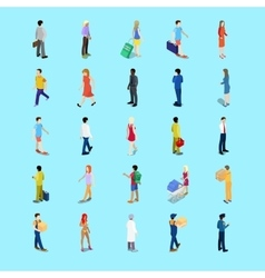 Isometric People Collection Businessman Tourist vector image vector image