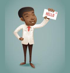 suit european afro african american businessman vector image