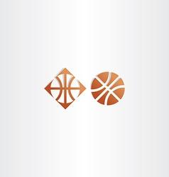 basketball icon logo sign vector image