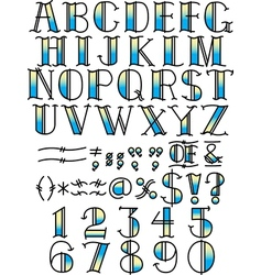 Contemporary Fonts Typeface vector image