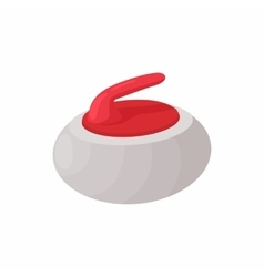 Curling stone icon cartoon style vector image