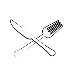 Cutlery icon Menu and kitchen design vector image vector image