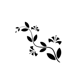 Decorative flower icon in flat style isolated vector image vector image