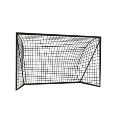 Football goal silhouette vector image vector image