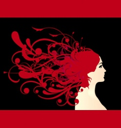 hairstyle vector image vector image