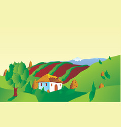 Italian of french landscape vector