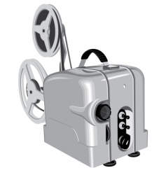 movie projector vector image vector image