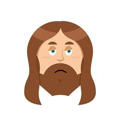 Sad jesus sorrowful christ bored son of god tired vector