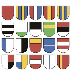 Set of twenty different shields vector image vector image