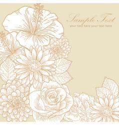 Vintage floral greeting card vector image vector image