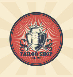 vintage of badge sticker vector image vector image