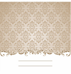beige and white seamless pattern card vector image