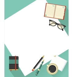 Business background with hands vector image vector image