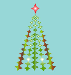 image of a christmas tree vector image