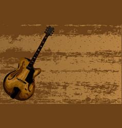Jazzer guitar vector