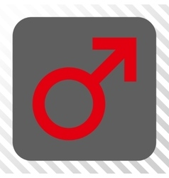 Male Symbol Rounded Square Button vector image