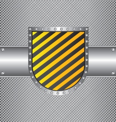 Metal wire and sign vector image