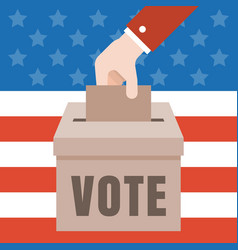 vote with american flag vector image vector image