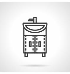 Washstand black line design icon vector image vector image