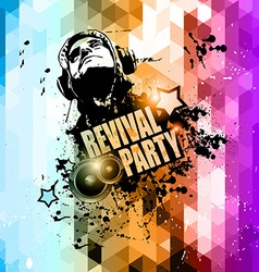 Attractive Club Disco Flyer background vector image