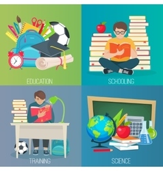 Back to school education banner set vector image vector image