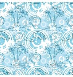 Seamless exotic ocean pattern vector image