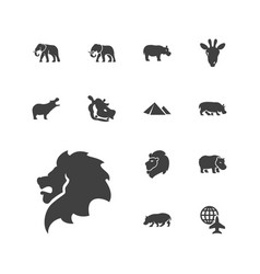 13 africa icons vector