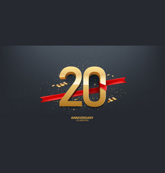 20th year anniversary background vector image