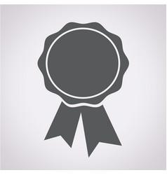 badge ribbons icon vector image