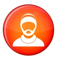 Bearded man avatar icon flat style vector