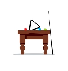Billiard Table Cartoon vector image