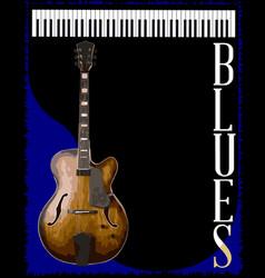 Blues club vector