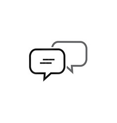 bubble chat outline icon template vector image