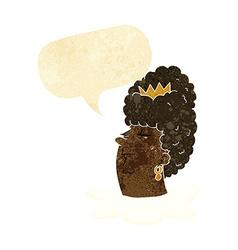 Cartoon queens head with speech bubble vector