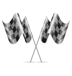 Checkered flags vector image