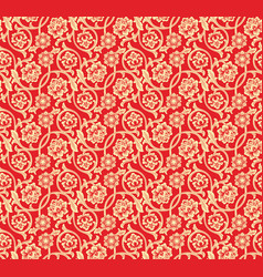 chinese red seamless pattern vector image