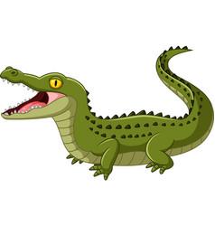 crocodile open mouth vector image