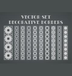 Decorative borders vector
