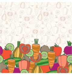 Decorative vegetables background vector image