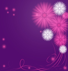 Delicate purple and lilac abstract flowers vector